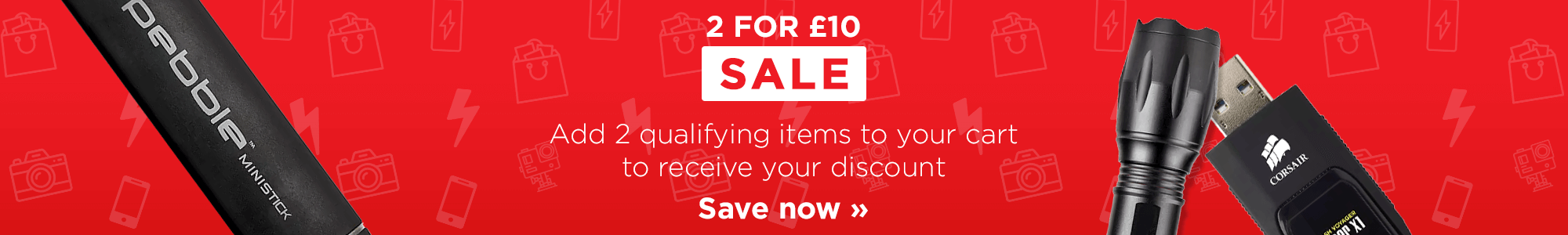 2 for £10 SALE on selected items!