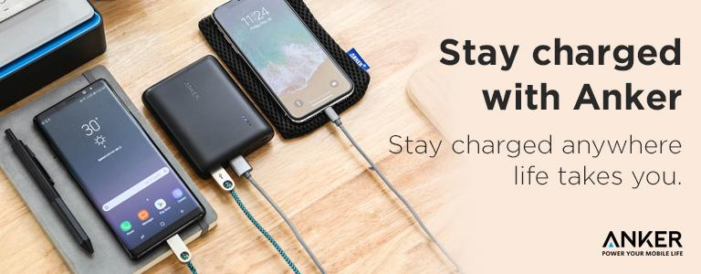 Stay charged with Anker + Free UK Delivery