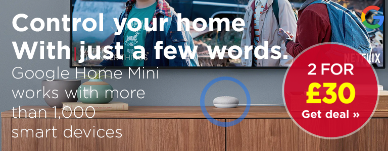 Shop the Google Home Mini for only £15.99