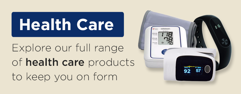 Explore our full range of health care products to keep you on form