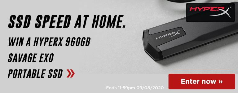 Win a HyperX 980GB Savage EXO Portable SSD