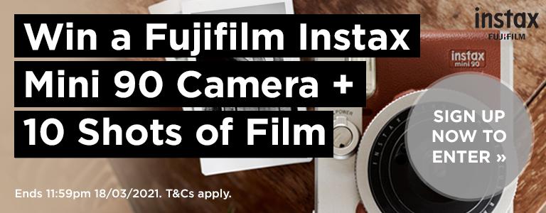 Win a Fujifilm Instax Mini 90 Camera and 10 Shots of Instant Film