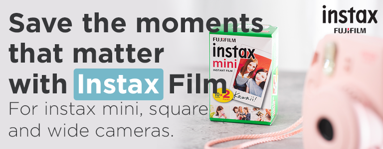 Save the moments that matter with Instax Film