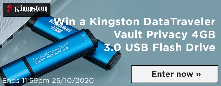 Win a Kingston DataTraveler Vault Privacy 4GB 3.0 USB Flash Drive