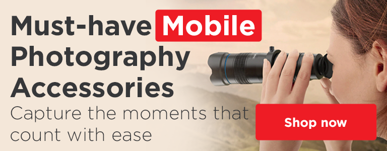 Shop our must-have Mobile Photography accessories and equipment