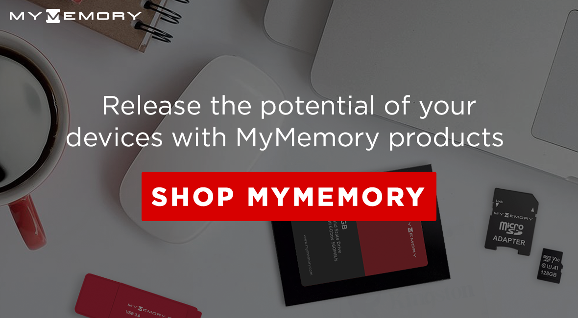 Release the potential of your devices with MyMemory! Shop MyMemory