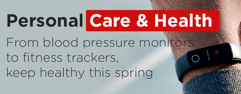 From blood pressure monitors to fitness trackers, stay healthy this spring. Shop Personal Care and Health