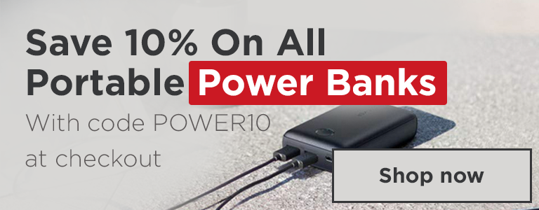 Save 10% On All Portable Power Banks With Code POWER10 at Checkout