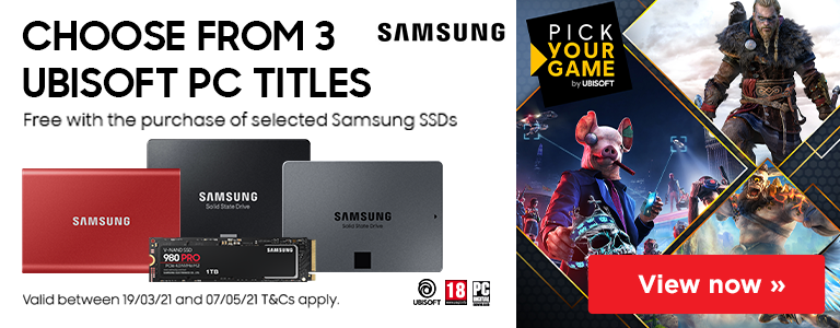 Free Ubisoft PC Title with the purchase of selected Samsung SSDs