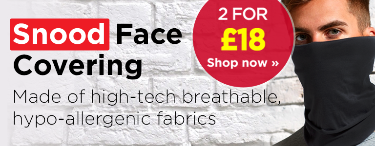 Shop our range of Snood Face Coverings