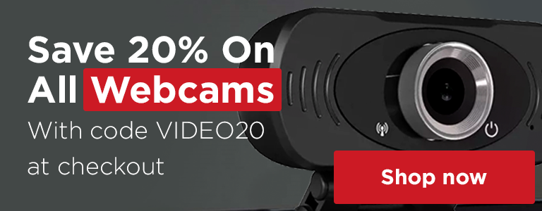 Save 20% On All Webcams With Code VIDEO20 at Checkout