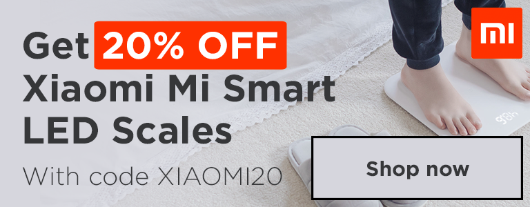 Get 20% OFF Xiaomi Mi Smart LED Scales with code XIAOMI20