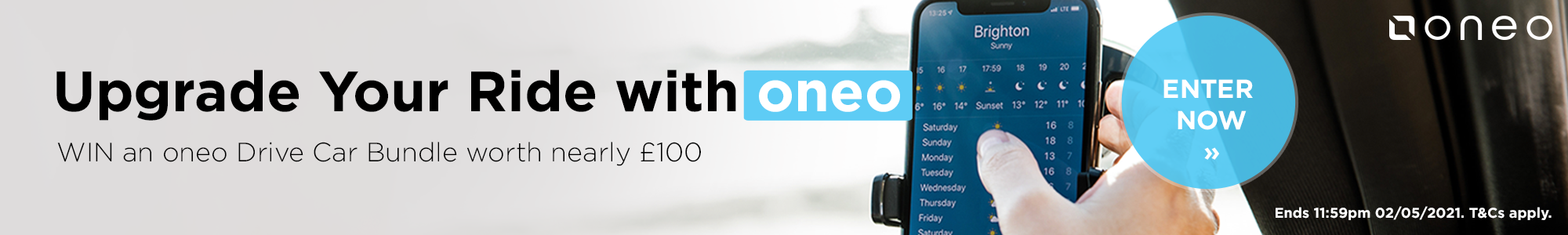 Win an oneo car bundle worth nearly £100